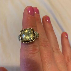 Lia Sophia Yellow stone ring
